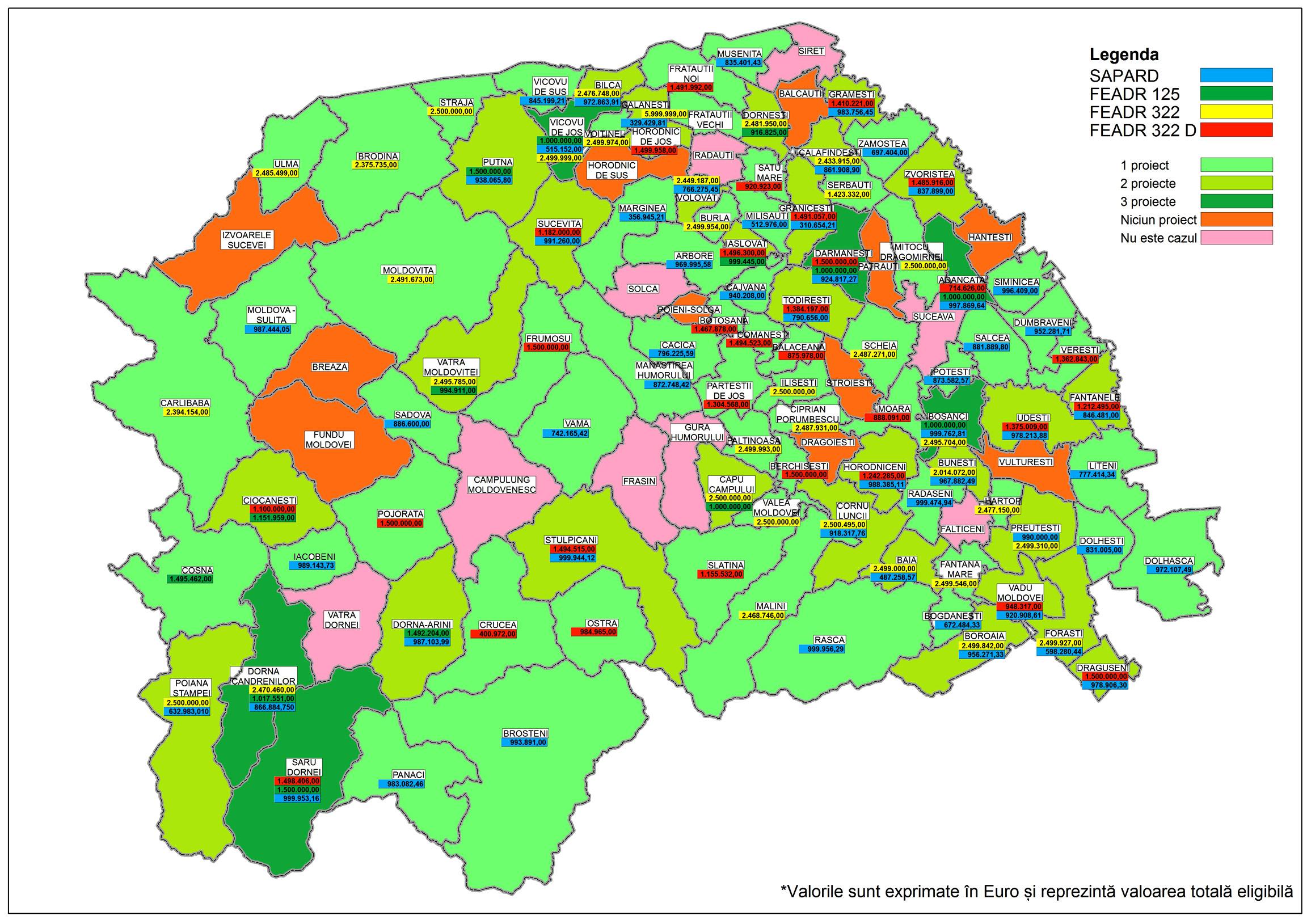 Local Harta Absorbtiei Fondurilor Europene In Judetul Suceava