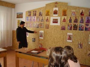 Profesorul Mihai Botezat, la ora de religie