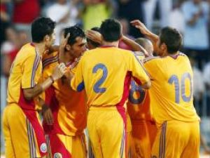 Jucătorii echipei naţionale se bucură pentru prima calificare la un turneu final după 8 ani de pauză