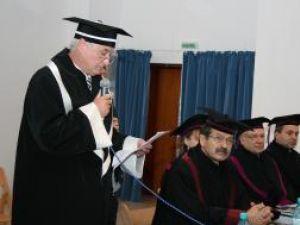 Jürgen Reichert la festivitatea de acordare a titlului de Doctor Honoris Causa