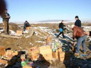 Ieri,356 de kilograme de materiale pirotehnice au fost distruse