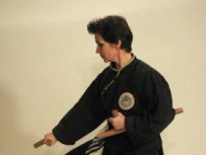 Marcela Reuţ în sala de antrenament