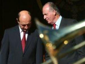 Traian Băsescu, în Spania, lângă Regele Juan Carlos
