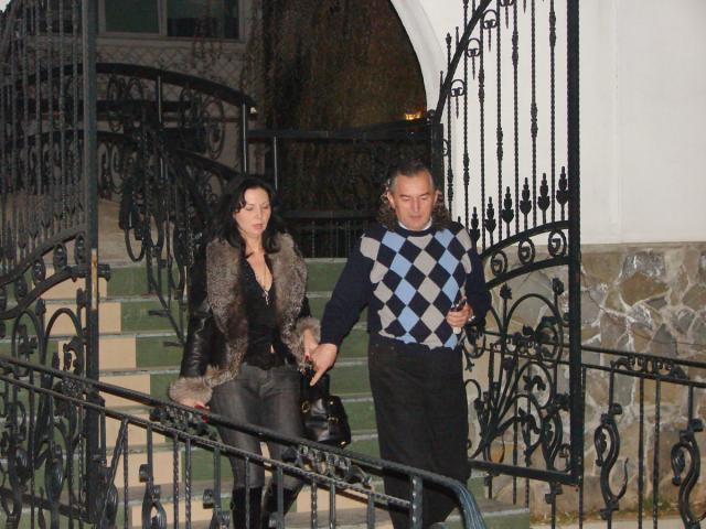 Miron Cozma, împreună cu prietena sa, la Piteşti