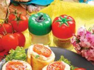 Sushi din omletă şi legume