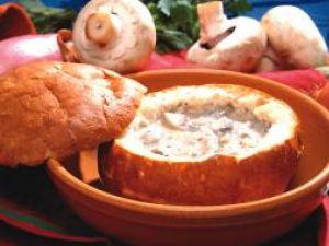 Bucătăria pentru toți: Supă de ciuperci în pâine
