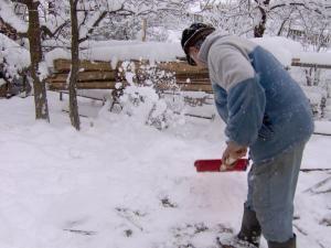"""""""La Câmpulung stratul de zăpadă a depăşit 15 cm grosime"""" 1"""