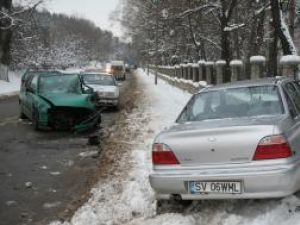Ieri după-amiază, puţin după ora 15.00, la ieşirea din Suceava