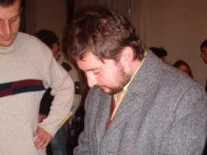 Victor Ov. Rusu la momentul autografelor