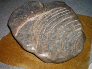 Lucrare realizată în sare de sculptorul Mircea Dăneasă