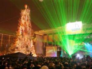 Joc de lasere în centrul Sucevei