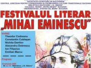 "Ediţia a XVII –a: Festivalul Literar ""Mihai Eminescu"""