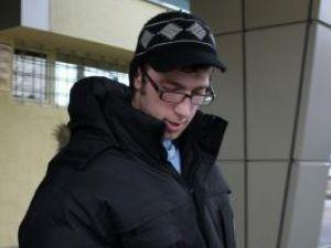 Sorin Alin Verincianu, ieri după-amiază, la ieşirea din sediul Poliţiei Suceava