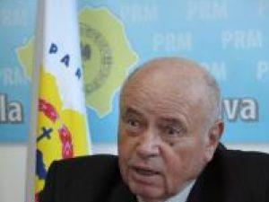 Preşedintele PRM Suceava, Gheorghe Acatrinei, şi vicepreşedintele CJ Suceava Stela Acatrinei