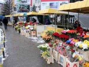 Florarii nu s-au prea ales cu profit în urma vânzărilor de ieri