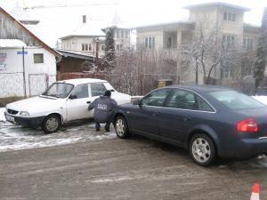 În zona Băii: Accident din cauza unui şofer care circula cu cauciucuri de vară