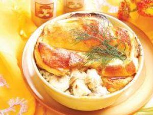 Pui cu ciuperci în crustă