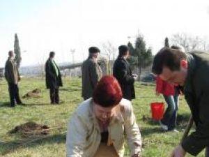 Ziua Gărzii de Mediu: 100 de stejari plantaţi în zona pasarelei din Burdujeni