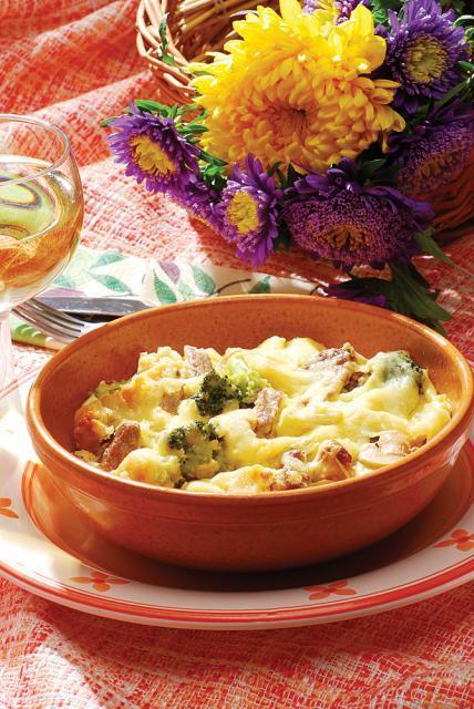 Pastramă de oaie cu brânză şi ciuperci