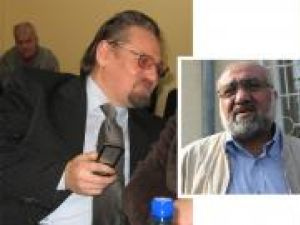 Benonie Contaş (stanga) şi Vasile Râmbu (dreapta) au aprobat rambursările ilegale de TVA către teroristul Omar Hayssam (centru)