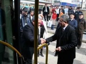 Ion Lungu, la inaugurarea autobuzelor noi ale TPL