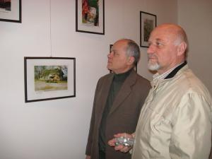Viceconsulul Mykhailo Lienkov şi Ioan Bodnar, preşedintele UUR-Ţinutul Bucovina