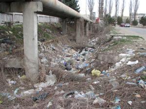 Iniţiativă ecologică: Zeci de saci de gunoi adunaţi de angajaţii OMV din jurul benzinăriei