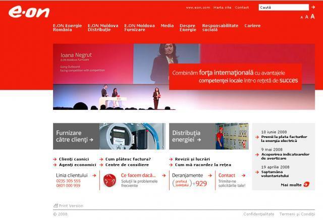 În pas cu tehnologia: E.ON Energie România are site nou pe internet