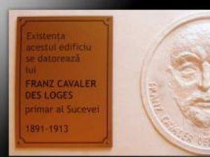 Placa-basorelief cu efigia lui Franz cavaler Des Loges