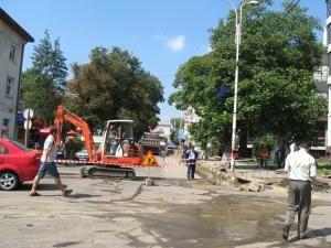 Strada Nicolae Bălcescu a fost închisă iar întreg traficul rutier a fost dat peste cap