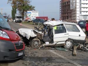 Ieri, în jurul orei 11.15, la ieşirea din municipiul Suceava, spre Fălticeni