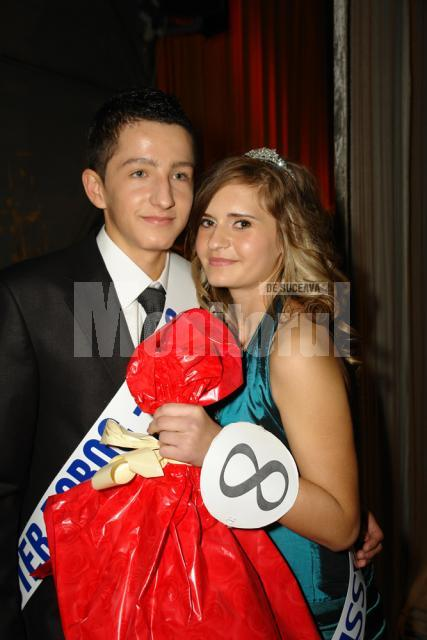 Roxana Alexandrovici şi Iulian Crăciunescu, Miss  şi Mister Boboc  la Colegiul Economic