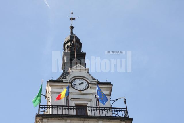 Steagul verde, arborat pe Palatul Administrativ