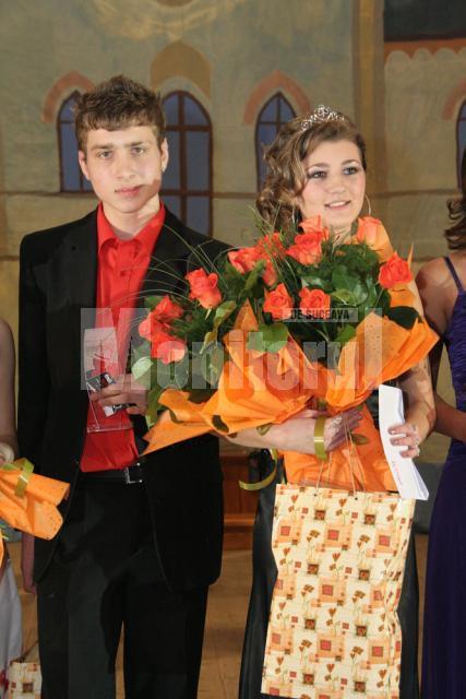 """Cătălina Anghilache şi Andrei Ostrovan, Miss şi Mister Boboc Colegiul Tehnic """"Al. I. Cuza"""""""