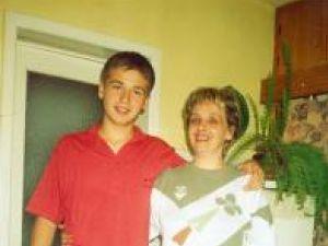 Daniel Hristache şi mama sa