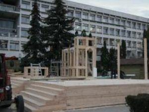 Sărbătoare: Salve de tun în faţa Gării Burdujeni şi a Palatului Administrativ, de Ziua Bucovinei