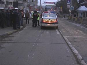 Maşina de poliţie, implicată în accident