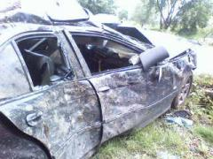 Autoturismul implicat în accident a fost serios avariat