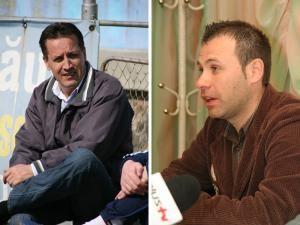 Dumitru Moldovan (stânga) va fi înlocuit din funcţia de preşedinte al clubului Cetatea cu Ciprian Anton (dreapta)