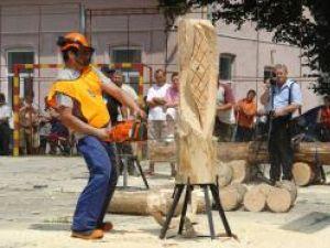 Sculpturile în lemn au fost o adevărată probă de măiestrie