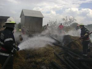 Incendiu provocat de un trăsnet, la Mironu