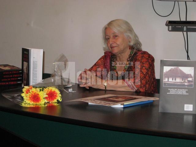 Adela Popescu la lansarea volumului A fost odată George Muntean