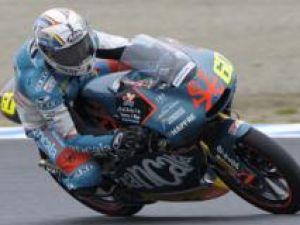Julian Simon, câştigătorul Mareleui Premiu al Marii Britanii la motociclism, clasa 125 cc . Foto: MEDIAFAX