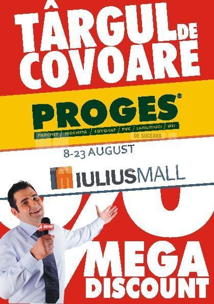 """8-23 august: Primul Târg de covoare """"Proges"""", la Iulius Mall"""
