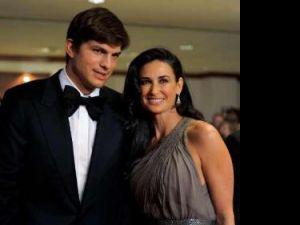 Ashton Kutcher şi Demi Moore. Foto: REUTERS