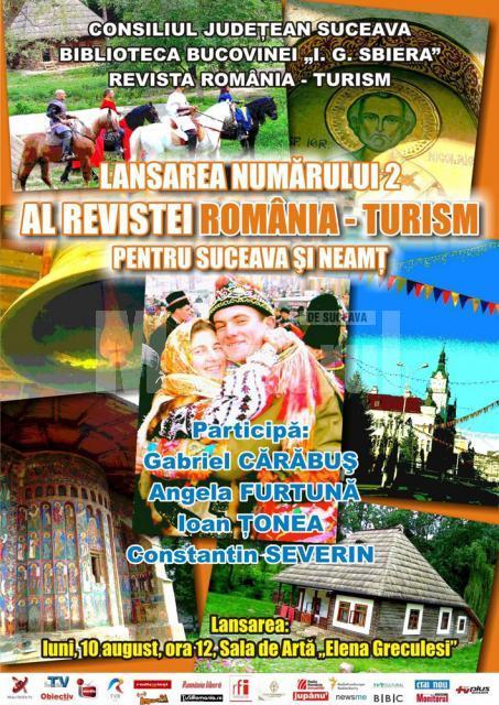 """Astăzi, la Biblioteca """"I. G. Sbiera"""": Lansarea Revistei România - Turism, dedicată judeţelor Suceava şi Neamţ"""