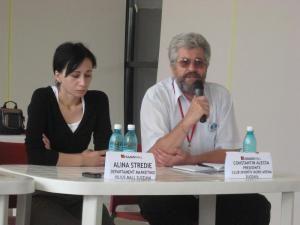 Alina Stredie, Departament Marketing Iulius Mall Suceava, şi Constantin Alecsa, preşedinte Club Sportiv Nord Arena Suceava