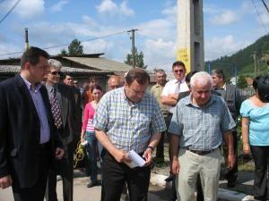 Preşedintele Consiliului Judeţean Suceava, Gheorghe Flutur, a fost prezent la începerea lucrărilor