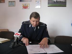 Şeful Serviciului Poliţiei Transporturi Suceava, comisarul Florin Catană