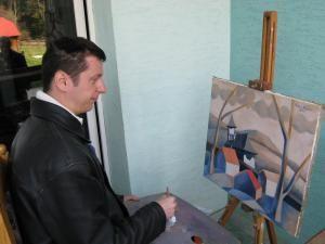 Cel mai tânăr membru al Uniunii Artiştilor Plastici, filiala Suceava, pictorul Cătălin Chifan